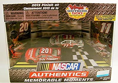 MEMORABLE MOMENTS MATT KENSETH DENNY HAMLIN NASCAR AUTHENTICS DIECAST RARE NASCAR # 20 AND # 11 hard to find