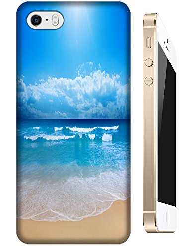 Cell Phone Case Beach Design Beautiful Sunshine Water Trees For Iphone 5/5S No.8