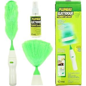 Plumeau Electrique Rotatif Anti-poussière Spécial Nettoyage et Ménage