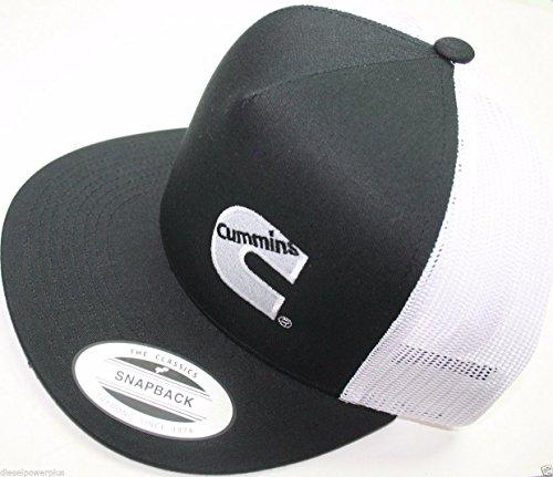dodge-cummins-trucker-mesh-summer-cummings-hat-ball-cap-flat-bill-snap-back-base