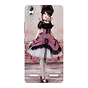 Enticing Cute Dancing Girl Multicolor Back Case Cover for Lenovo A6000