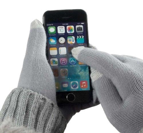 YAYAGO Touchscreen Handschuhe Universalgröße (ca. M - L) - Für Sony Xperia S LT26i / Sony Xperia Ion LT28AT / Sony Ericsson Xperia Arc S / Sony Ericsson Xperia Pro MK16i / Sony Ericsson Live Mit Walkman und alle weiteren Modelle mit kapazitivem Display und Touch Screen Handy Navigationsgerät inkl. dem Original YAYAGO Clean