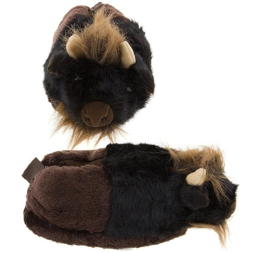 Image of Buffalo Animal Slippers for Women and Kids (B003TMO19C)