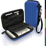 igadgitz Azul EVA Rígida Funda Carcasa para Nuevo Nintendo 3DS XL (Todas las Versiones) Viaje Case Cover con Correa