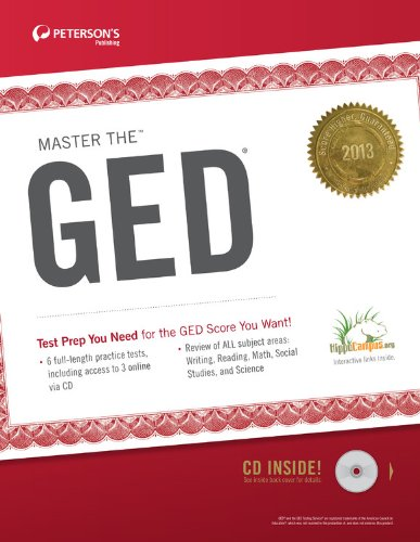 Master the GED 2013 (w/CD) (Peterson's Master the GED (W/CD))