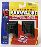 Two HO Scale Illuminated Power-Loc Bumpers from Lifelike Trains. Black Roadbed<br /><br /> HO scale<br /><br /> Get Your Train Up & Running in Less Than 5 Minutes <br /><br /> Power-Loc track guarantees instant assembly, automatic alignment and perfect performance. Its patented design eliminates pesky rail joiners, and its side-locking mechanism snaps together easily and quickly. Power-Loc features a solid roadbed base so you can set up the track on many surfaces, including carpeting, eliminating the need for layout boards, nails, screws and other tools. The track clicks together instantly, while its offset design makes the strongest track connection ever. The assembled track won't bend so you can pick it up, hang it on a wall or store it under a bed. Overall Power-Loc's superior locking mechanism ensures the smoothest connection possible between track pieces, which means fewer derailments and perfect electrical contact - guaranteed. <br /><br /> Power-Loc is available in HO & N Scales, with steel rails or nickel-silver, with gray or black roadbed. Adapter track allows the use of Power-Loc track on existing layouts. The adapter track works with other roadbed systems as well as conventional track that uses rail joiners. For outstanding permanent layouts Power-Loc track is essential to make track laying fun and easy.