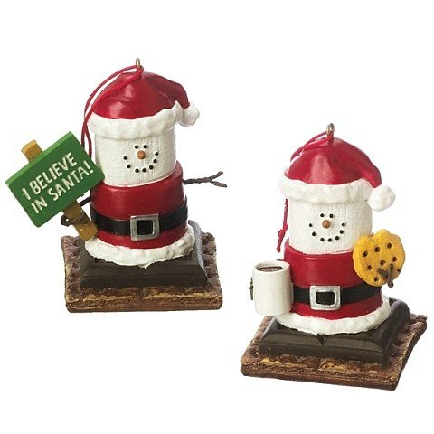 S'mores Santa Ornament Set