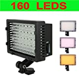 NEEWER CN-160 Dimmable LED Video Light Ultra High Power 160 LED Digital Camera / Camcorder for Canon, Nikon, Pentax, Panasonic, Sony, Leica , Samsung and Olympus Digital SLR Cameras
