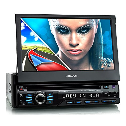 XOMAX-XM-DTSBN929-Autoradio-Moniceiver-Naviceiver-mit-GPS-Navigation-Navi-Software-inkl-Europa-Karten-48-Lnder-Bluetooth-Freisprechfunktion-7-18-cm-Touchscreen-Display-in-169-HD-Auflsung-800-x-480-px-