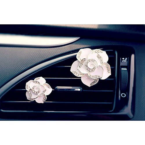 cogeek-car-perfume-air-freshener-diamond-camellia-flower-air-conditioning-outlet-clip-white