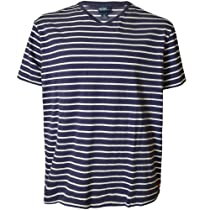 Polo Ralph Lauren Striped Pony V-Neck Tee, Navy, XXL