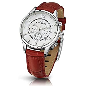 Ladies Kennett Lady Savro Chronograph Watch LWSAVWHSILRE