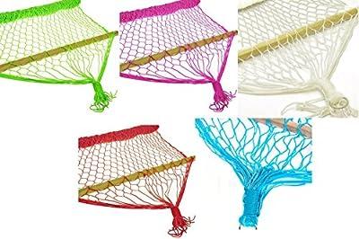 Oramics Hängematte Netzhängematte 180 x 60 cm in verschiedenen Farben - belastbar bis 120 kg