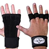 Crossfit Gloves for Weightlifting Fitness Training from Gymnos offer Workout Equipment for Stronger Non Slip Grips with Long Wraps for Best Wrist Support. Enhance Your Performance and Do More Reps