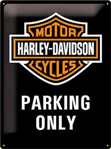 grande-plaque-metal-harley-davidson-parking-only-na-4030