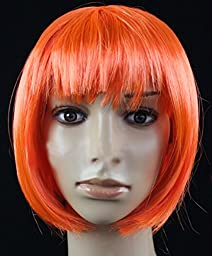 Fashion Cute COS Wigs for Children\'s Color Bobo Fluffy Short Straight Hair (orange)