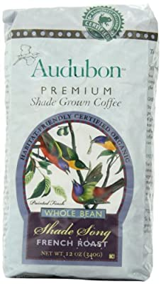 Audubon Whole Bean Coffee, Shade Song French Roast, 12 Ounce (Pack of 3)