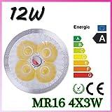 MR16 High Power Energy Saving bulbs Overclocking 12W White Light Bulbs(10pieces)