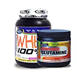 Advance Glutamine 300gm Unflavoured& ADVANCE 100% WHEY 25gm Protein Per 33gm 1kg Chocolate (Combo Offer)