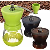 Generic Brown : New Arrival Manual Ceramic Burr Coffee Grinder Hand Mill Coffee Bean Pepper Grinder Home Office...