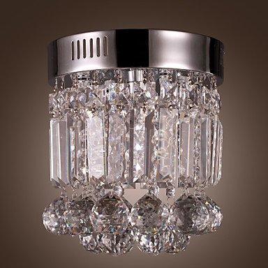 1-Light Led Semi Flush Mount In Crystal