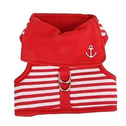 Pinkaholic New York Sailor Pinka Harness for Dogs, Medium, Red