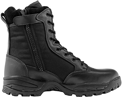 Maelstrom Men's TAC FORCE 8 Inch Waterproof Insulated Military Tactical Duty Work Boot with Zipper, Black, 9 M US