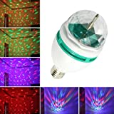 Abco Tech E27 Full Color Rotating Lamp Strobe LED Crystal Stage Light for Disco Party Club Bar Dj . Ball Bulb Multi Color Changing