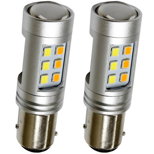 High Power 3535 Chip 1157 Dual Color Switchback Led Turn Signal Light Bulbs