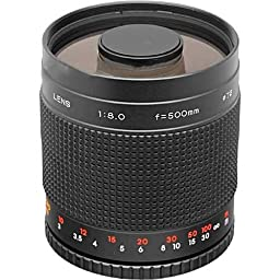 Samyang 500mm f/8 Ultra Telephoto Manual Focus Mirror Lens, Requires T Mount.