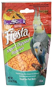 Kaytee Pet Products BKT100502770 Fiesta Yogurt Dipped Papaya Avian Bird Treat, 2.5-Ounce, Mango Flavor
