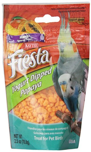 Kaytee  Mango Flavored Yogurt Dipped Papaya Treats for All Pet Birds, 2.5-oz bag (Yogurt Hamster compare prices)