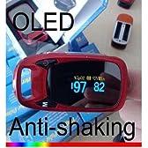 パルスオキシメータ(新型) 血中酸素濃度計・脈拍計カラー有機ELディスプレイフィンガ-【アラーム機能·オートオフ機能付】