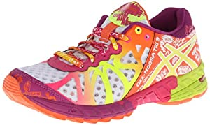 ASICS Women's Gel-Noosa Tri 9 Running Shoe,White/Flash Yellow/Plum,9.5 M US