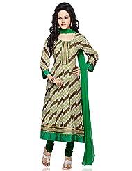Utsav Fashion Women's Green Cotton Anarkali Readymade Churidar Kameez-X-Small