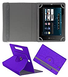 Acm Designer Rotating Case For Bsnl Penta Is801c Stand Cover Purple
