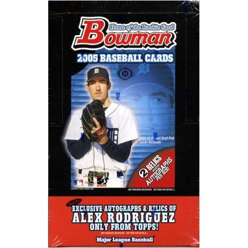 2005 Bowman Baseball Card Unopened Hobby Box