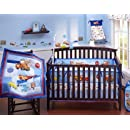 Disney Baby Cars Junior Junction 4 Piece Crib Bedding Set
