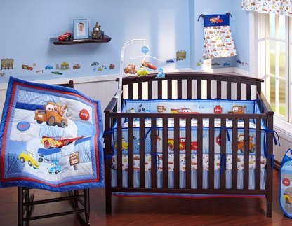 Where I buy Disney Baby Cars Junior Junction 4-piece Crib Bedding Set reviews