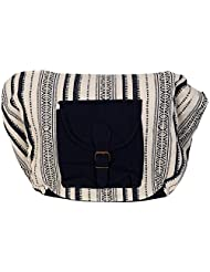 Moh Maya Sameera Hand-held Bag, Blue & White