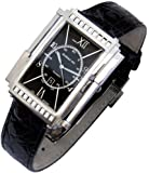 Xezo Mens Architect Swiss Made Automatic Watch. Crocodile Leather.Handcrafted Ultra Thin 8 mm Case