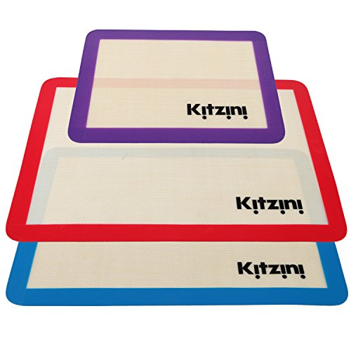 Silicone Baking Sheet Mat Set (3) 2 Half Sheets + 1 Qtr Sheet (Silicone Baking Mat compare prices)