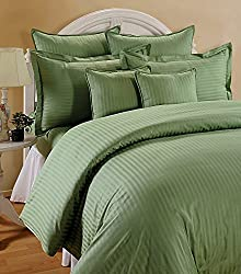 Trance Home Linen 210 TC 100% Cotton Duvet Cover with 2 Pillow Covers - King Size, Moss Green