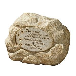 Grasslands Road Pet Paw Print Memory Stone