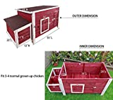 """Petsfit 55""""L X 25""""W X 28""""H Outdoor Chicken Barn Chicken Coop With Nesting Box"""
