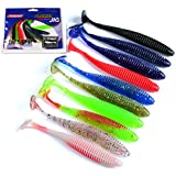 Generic 10 Colors : 10 Pcs/Lot Lures Soft Bait Worms Fishing Lure 8.5cm 2.4g With Salt Smell Hot Fishing Takcle...