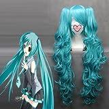 Free PP Charming Wave MIKU V Hatsune Miku Heat Resistant Fiber Anime Cosplay wig COS-045A