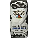 Organic Valley 1% Aseptic Milk, Single Serve - White - 6.75 oz. - 12 Pack
