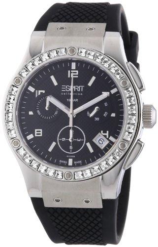 Esprit Collection - Reloj para mujer de caucho negro