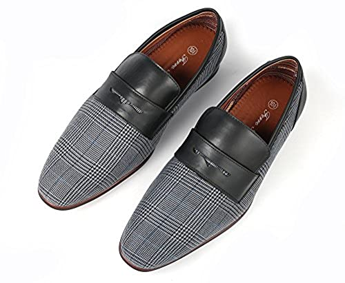 5. Ferro Aldo Men Fashion Slip On Loafers Dress Shoes Leather